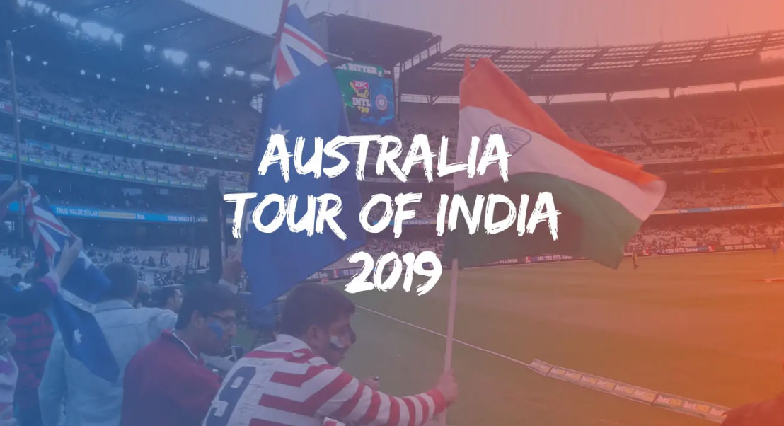 Australia tour of India, 2019 schedule