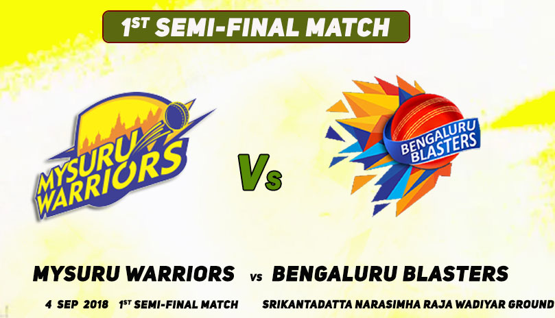 Bengaluru Blasters vs Mysuru Warriors, 1st Semi-Final