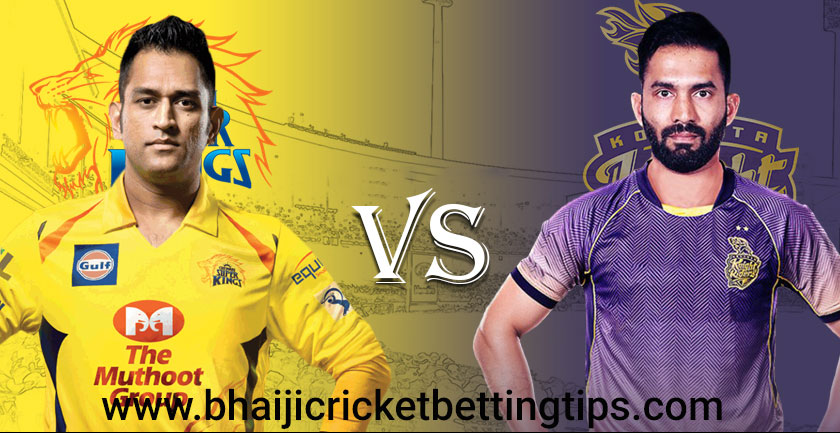 CSK vs KKR - 23rd Match - IPL Betting Tips