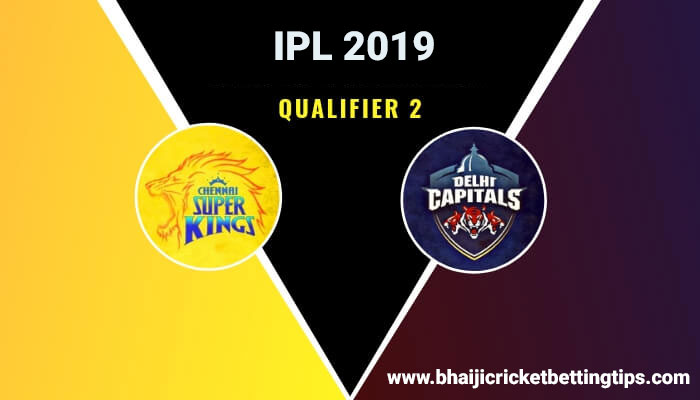 CSK vs DC - Qualifier 2 - Cricket Betting Tips