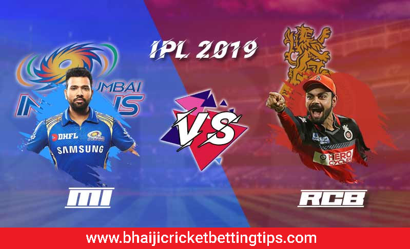 IPL Betting Tips - 7th March -   RCB VS MI