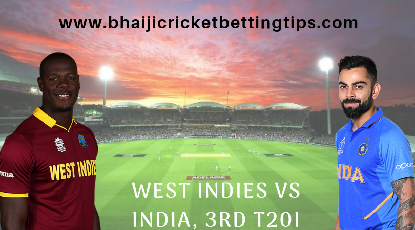 West Indies vs India, 3rd T20I Match Cricket Betting Tips