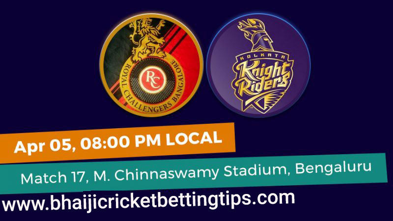 RCB vs KKR -17th Match - IPL Betting Tips 2019