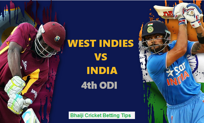India vs West Indies, 4th ODI Match Prediction & Betting Tips
