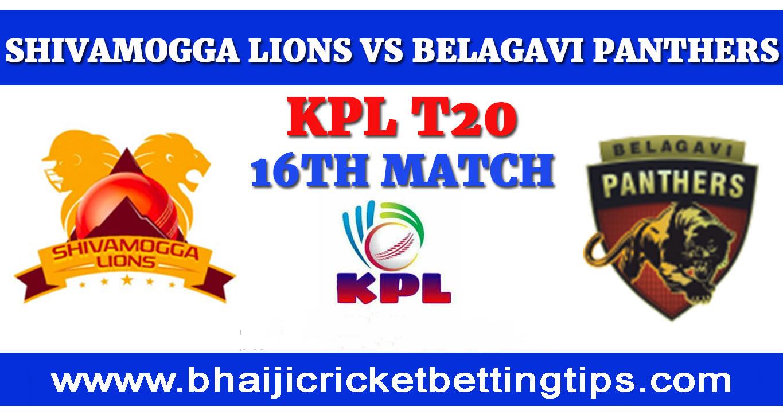 Shivamogga Lions vs Belagavi Panthers, 16th Match
