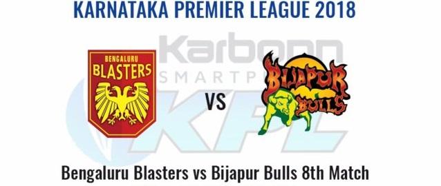Bengaluru Blasters vs Bijapur Bulls, 8th Match