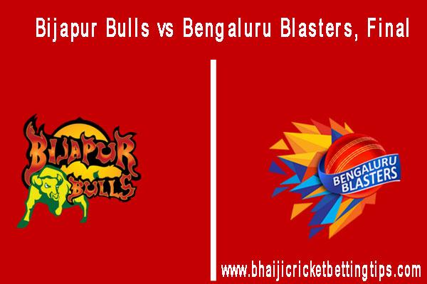 Bengaluru Blasters vs Bijapur Bulls, Final