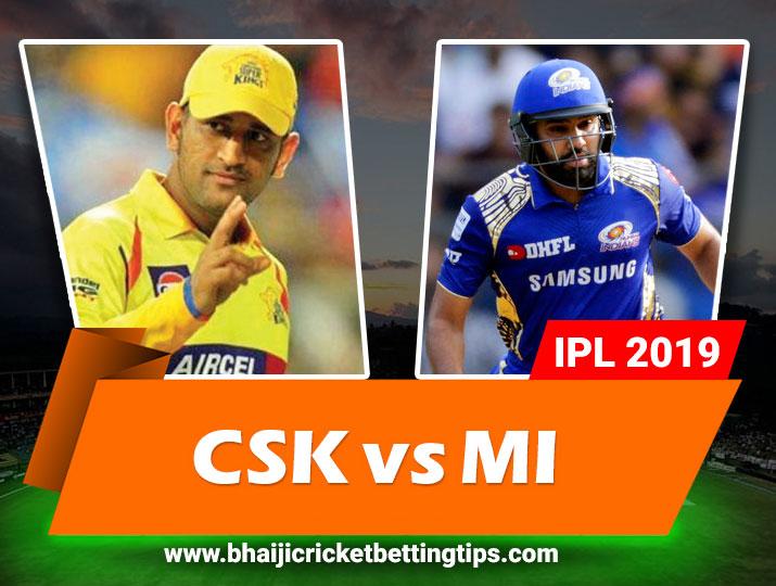 CSK vs MI - 44th Match - Cricket Betting Tips