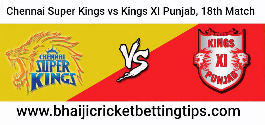 IPL Tips 2019 - 18th Match - Chennai Super Kings vs Kings XI Punjab