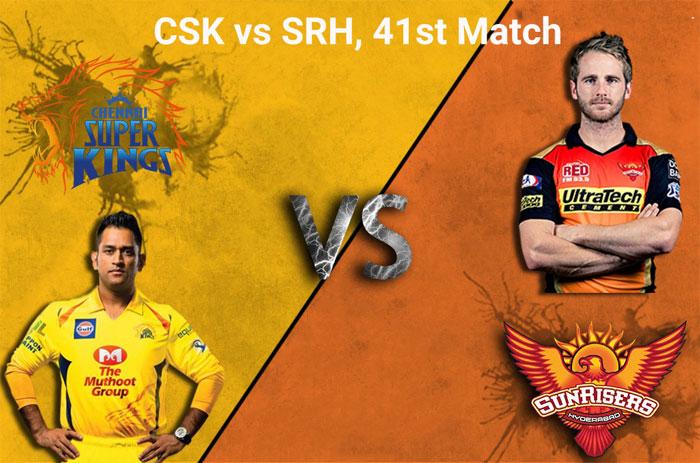 Chennai Super Kings vs Sunrisers Hyderabad, 41st Match