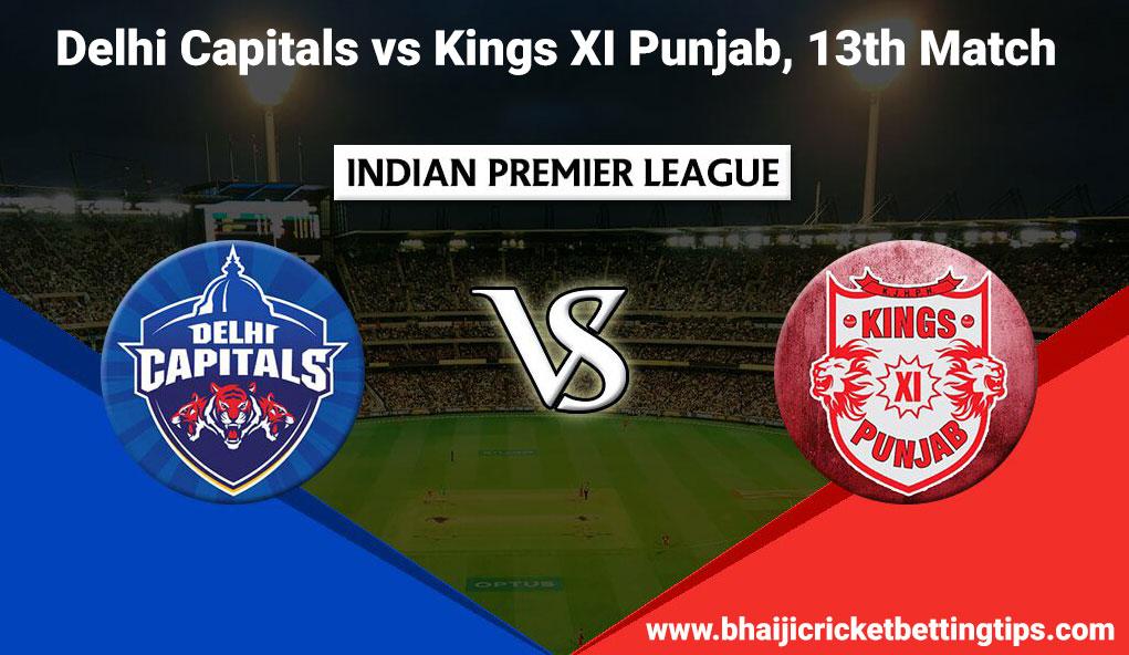 IPL 2019- 13th Match - Delhi Capitals vs Kings XI Punjab