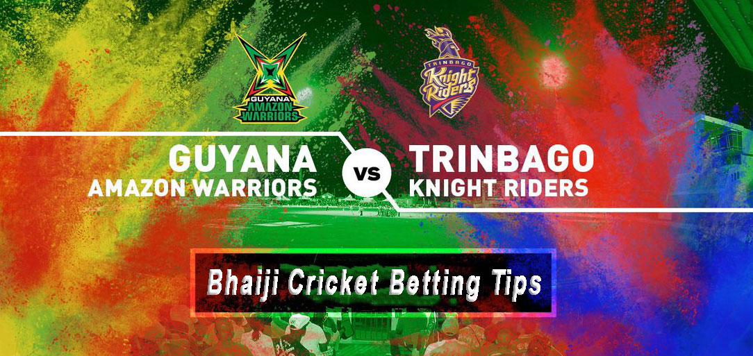 Guyana Amazon Warriors vs Trinbago Knight Riders, CPL 2108 Final