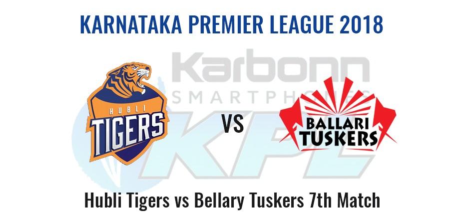 Hubli Tigers vs Bellary Tuskers, 7th Match