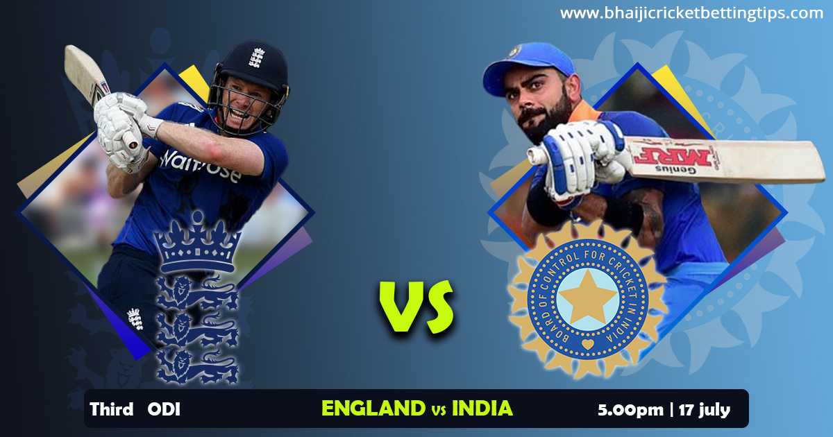 England vs India, 3rd ODI - Live Cricket Tips and Prediction