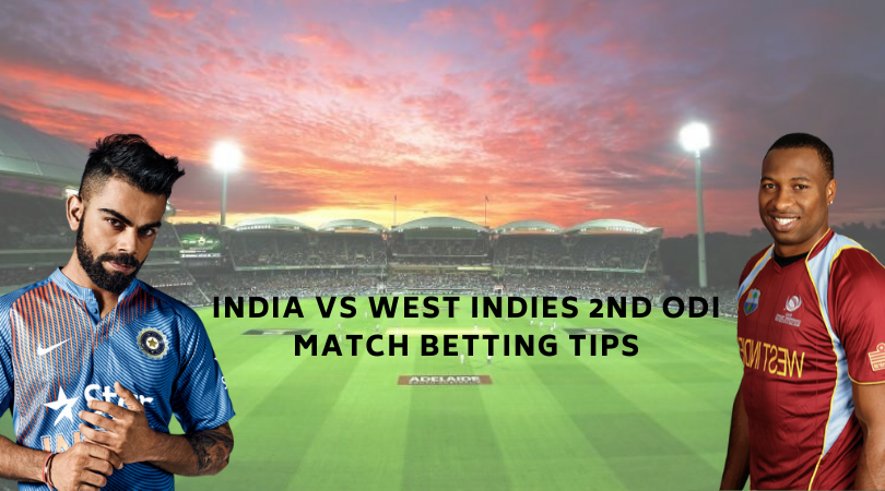 India vs West Indies 2nd ODI Match Betting Tips