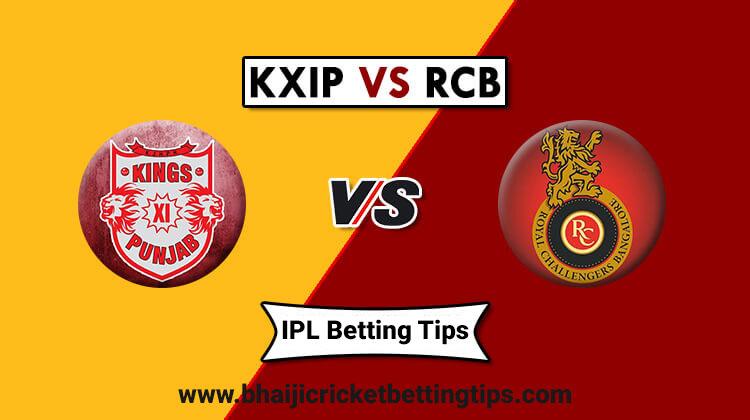 RCB vs KXIP - 42nd Match - IPL Betting Tips 2019