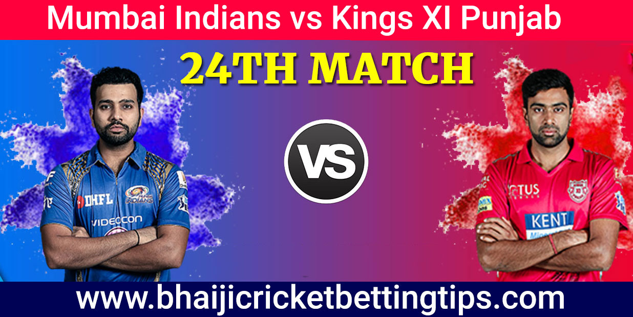 IPL 2019 Betting Tips -  24th Match - MI vs KXIP