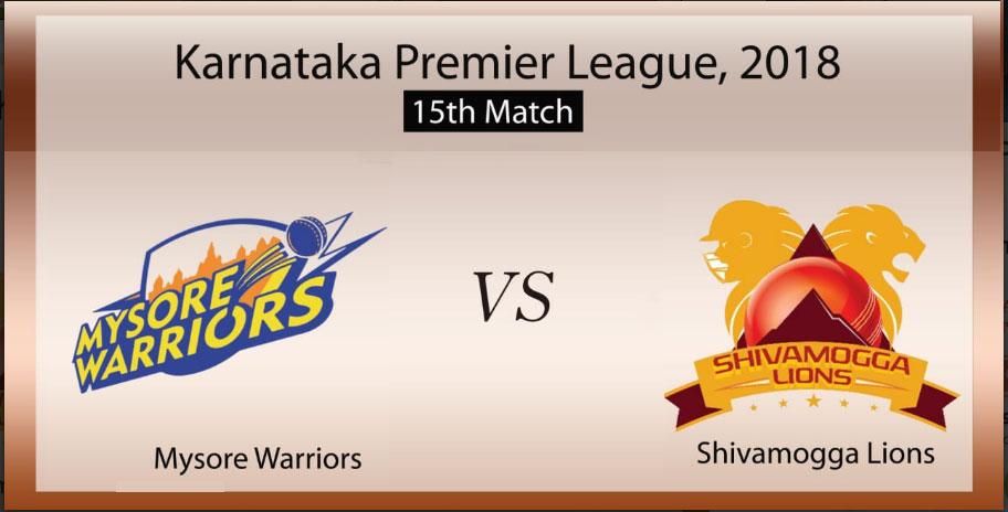 Mysuru Warriors vs Shivamogga Lions, 15th Match
