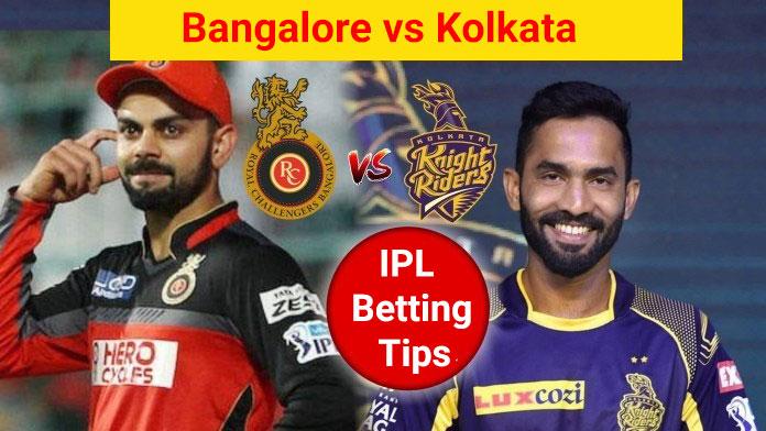 Kolkata vs Bangalore, 35th Match - IPL Cricket Betting Tips