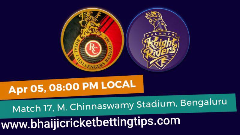RCB vs KKR -17th Match - IPL Betting Tips 2019