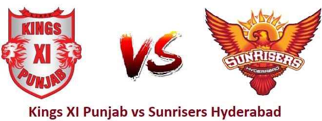 Sunrisers Hyderabad vs Kings XI Punjab, 25th Match - IPL betting tips