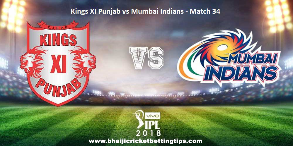 Kings XI Punjab vs Mumbai Indians, 34th Match