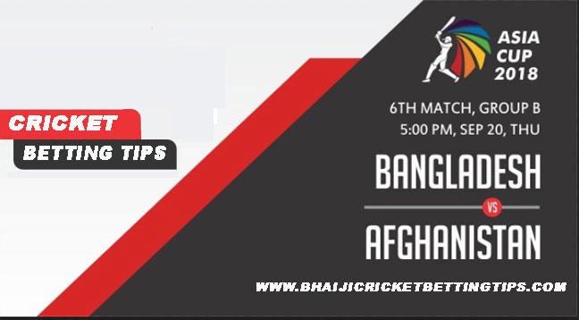 Bangladesh vs Afghanistan, 6th Match Prediction Asia 2018