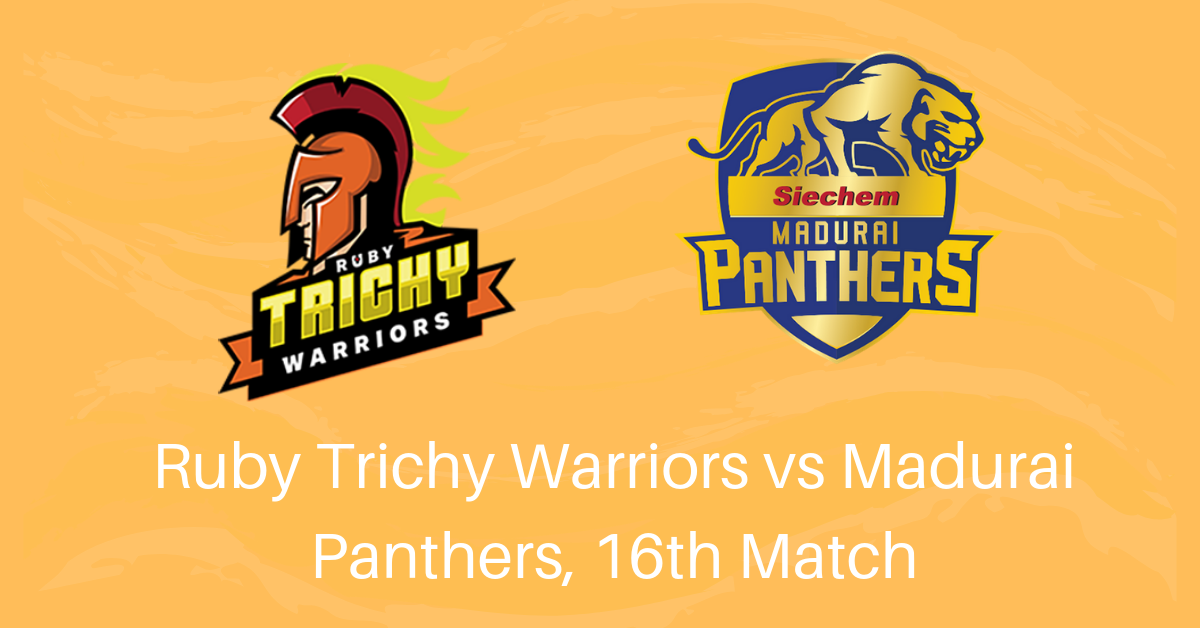 Ruby Trichy Warriors vs Madurai Panthers, 16th Match Betting Tips