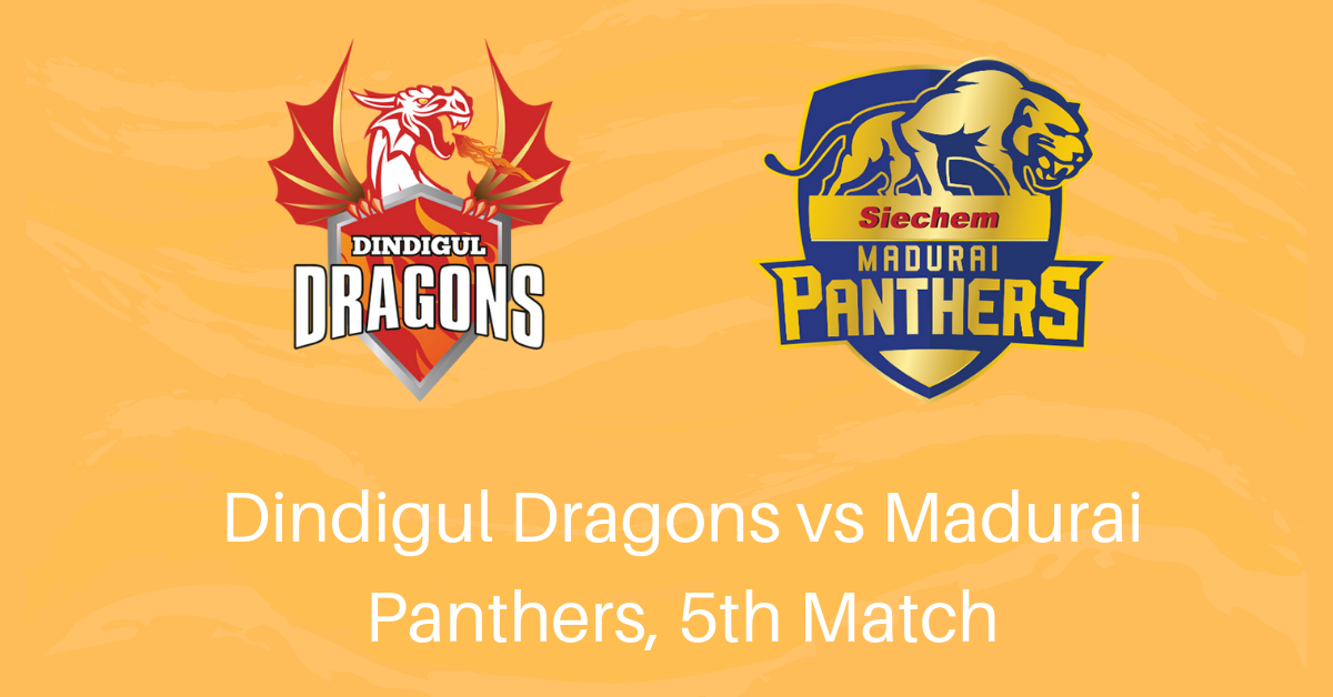 TNPL 2019 Betting Tips for Dindigul Dragons vs Madurai Panthers, 5th Match