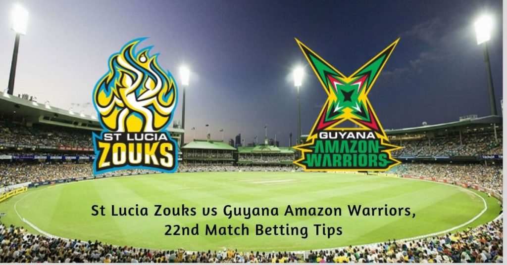 St Lucia Zouks vs Guyana Amazon Warriors, 22nd Match Betting Tips