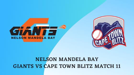 Nelson Mandela Bay Giants vs Cape Town Blitz Match 11 Betting Tips